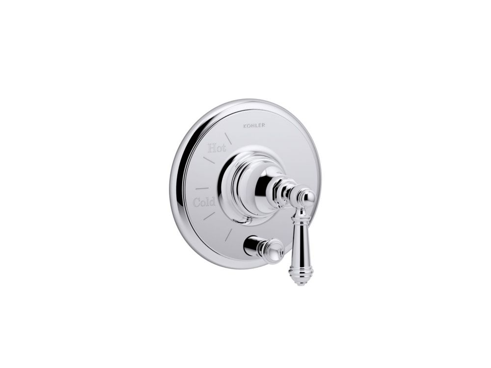 KOHLER Artifacts Rite-Temp Pressure-Balancing Valve Trim In Polished Chrome