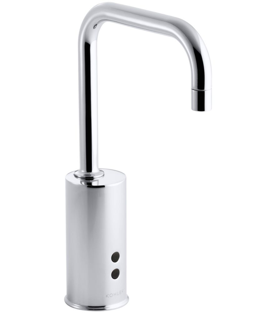 KOHLER Gooseneck single-hole Touchless(TM) hybrid energy cell-powered commercial faucet with Insight(TM) technology