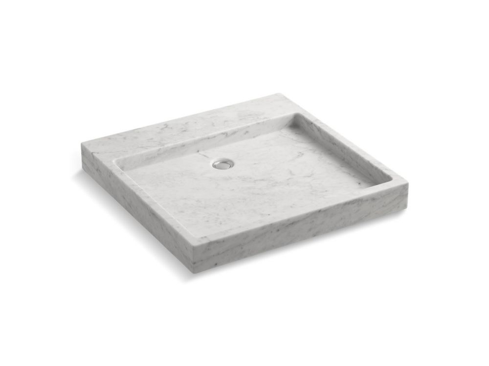 KOHLER Purist Wading Pool® Above-Counter Or Wall-Mount Bathroom Sink In White Carrara Marble