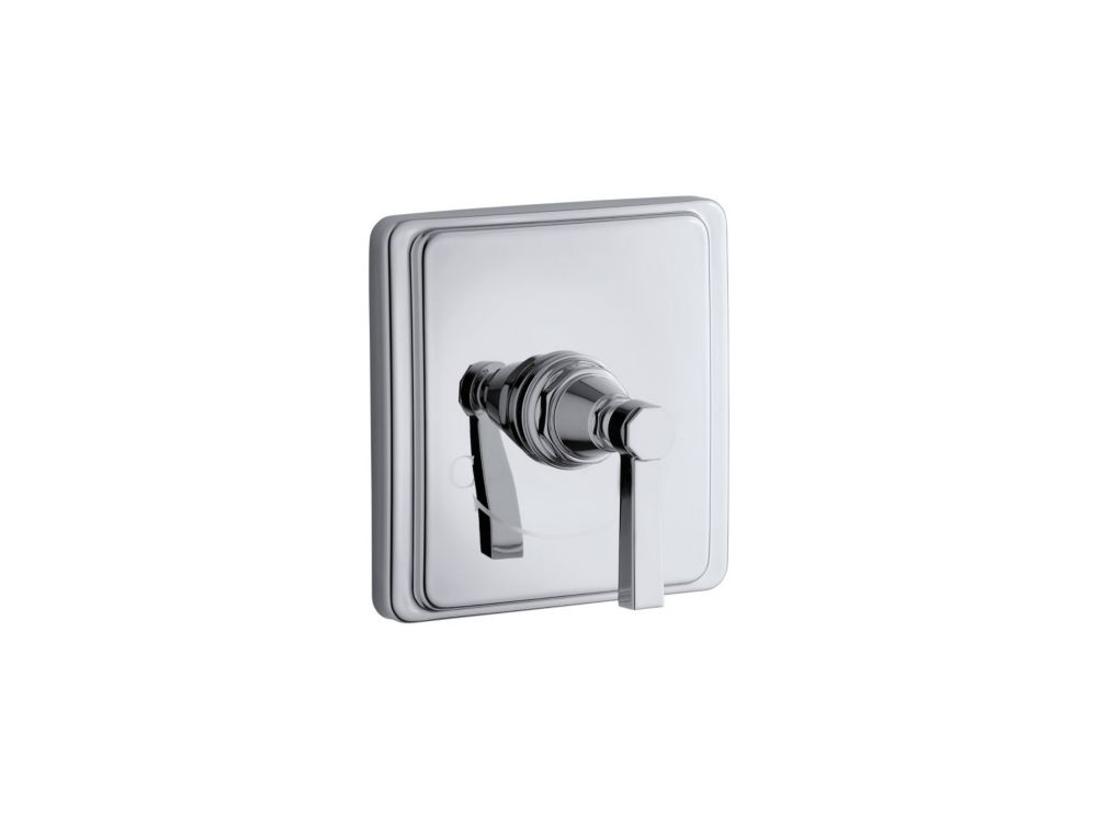 KOHLER Pinstripe Valve Trim With Pure Design Lever Handle For Thermostatic Valve In Polished Chrome