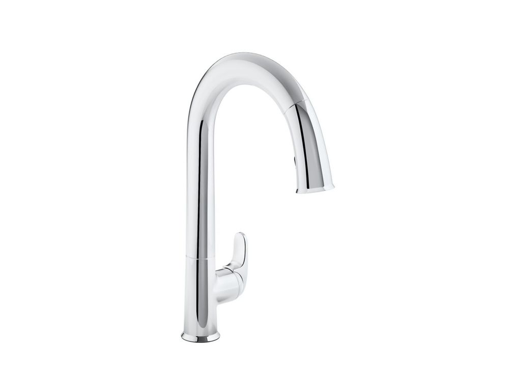 Sensate Ac-Powered Touchless Kitchen Faucet In Polished Chrome With Docknetik And Sweep Spray