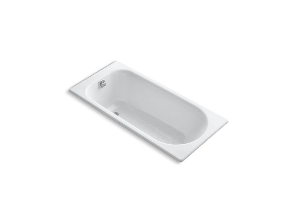 KOHLER Soissons 59 inch X 28 inch Drop Inch Bath With Reversible Drain, White