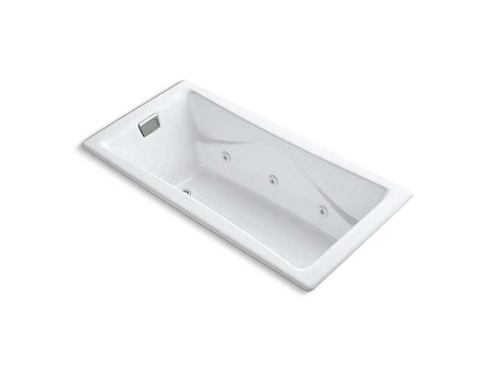 """Tea-for-Two(R) 72"""" x 36"""" drop-in whirlpool with reversible drain and heater without trim"""