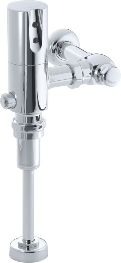Tripoint Exposed Hybrid 0.5 Gpf Flushometer For Urinal Installation In Polished Chrome
