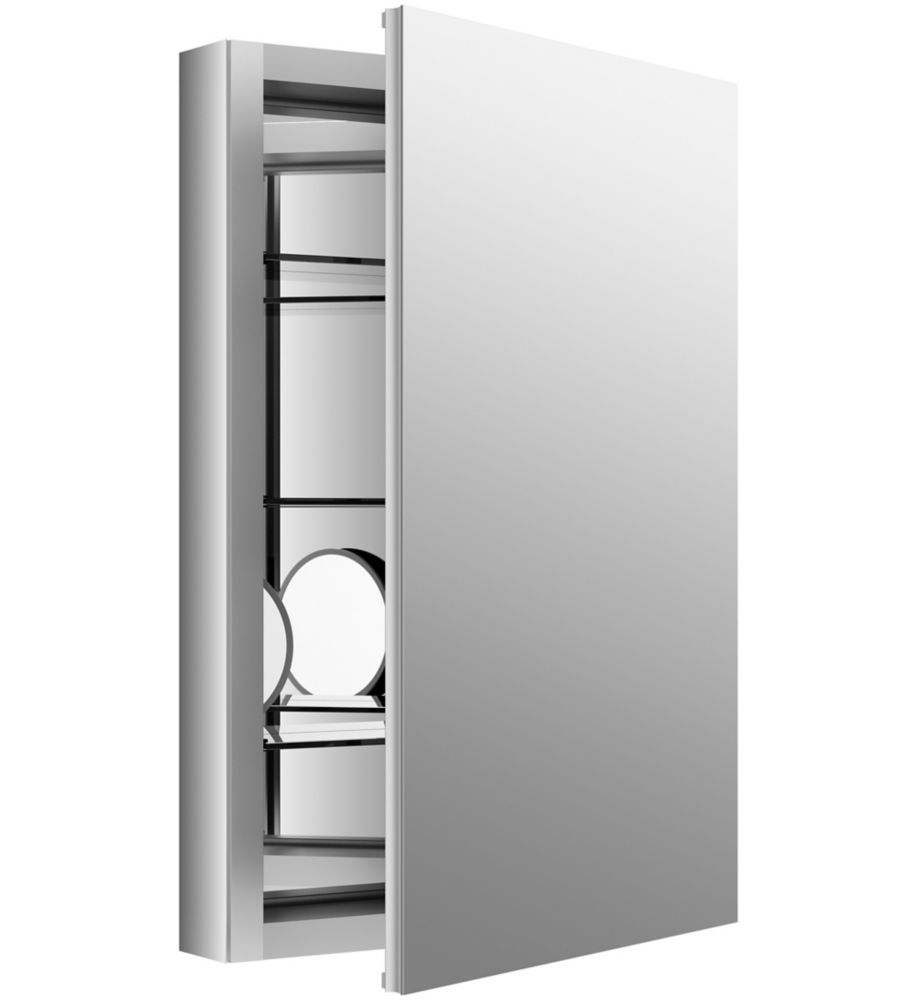 Verdera 20 inch W X 30 inch H Aluminum Medicine Cabinet With Magnifying Mirror And Slow-Close Door