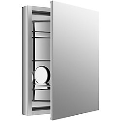 KOHLER Verdera 24 inch W X 30 inch H Aluminum Medicine Cabinet With Magnifying Mirror And Slow-Close Door