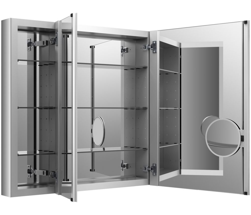 KOHLER Verdera 40 inch W X 30 inch H Aluminum Medicine Cabinet With Magnifying Mirror And Slow-Close Door