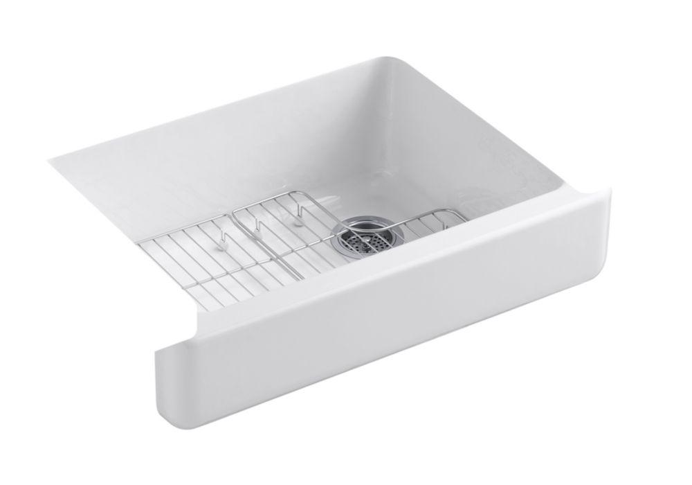 Whitehaven Undermount Cast Iron 29-1/2  inch 0-Hole Single Bowl Kitchen Sink In White