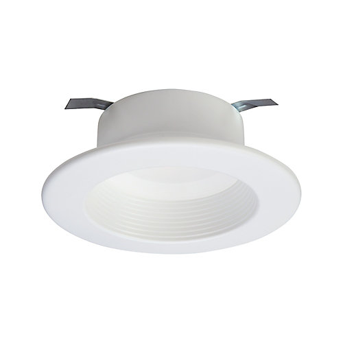 4 inch White Integrated LED Recessed Downlight Trim with Selectable Colour Temperature