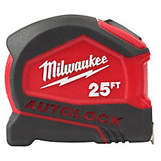 25-Foot Compact Auto Lock Tape Measure
