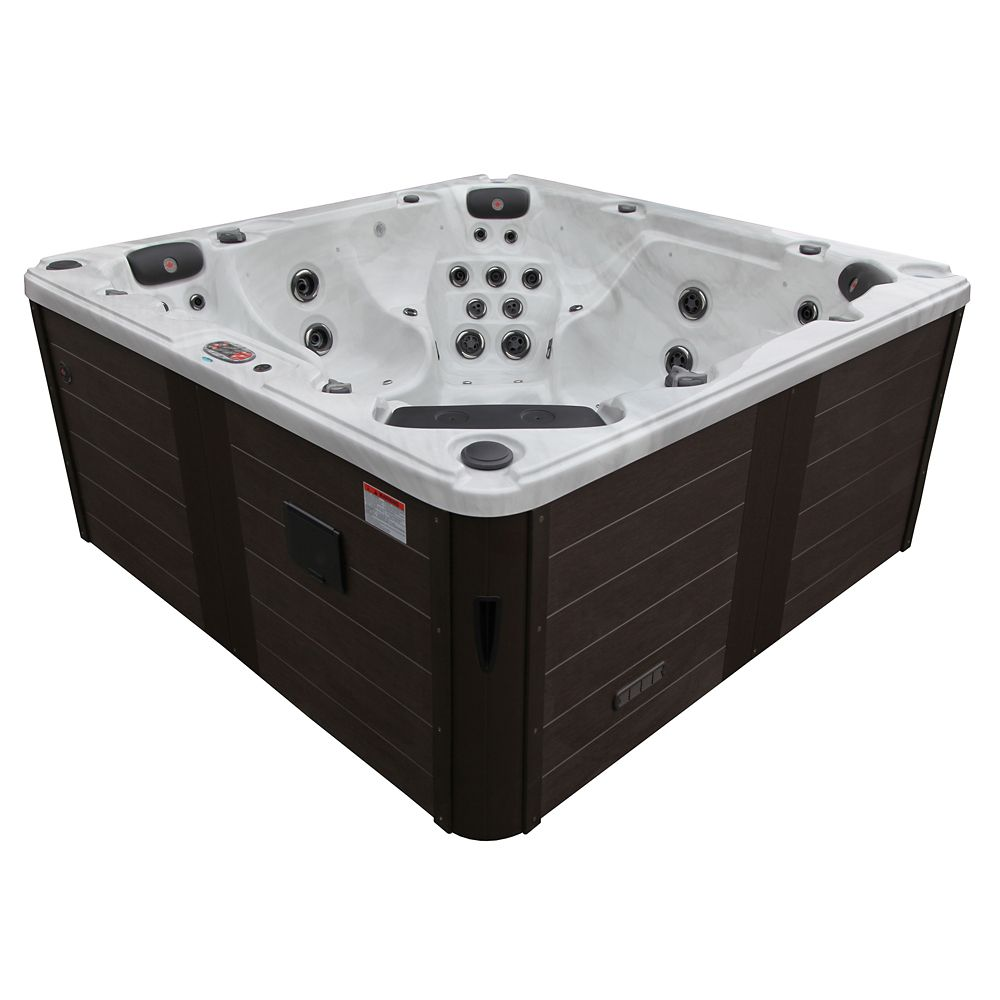 Canadian Spa Company Niagara Falls 60-Jet 7-Person Hot Tub with LED Lighting and Bluetooth Speakers