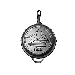 Lodge Canadiana Series 10.25-inch Cast Iron Skillet with Loon Scene - Limited Edition