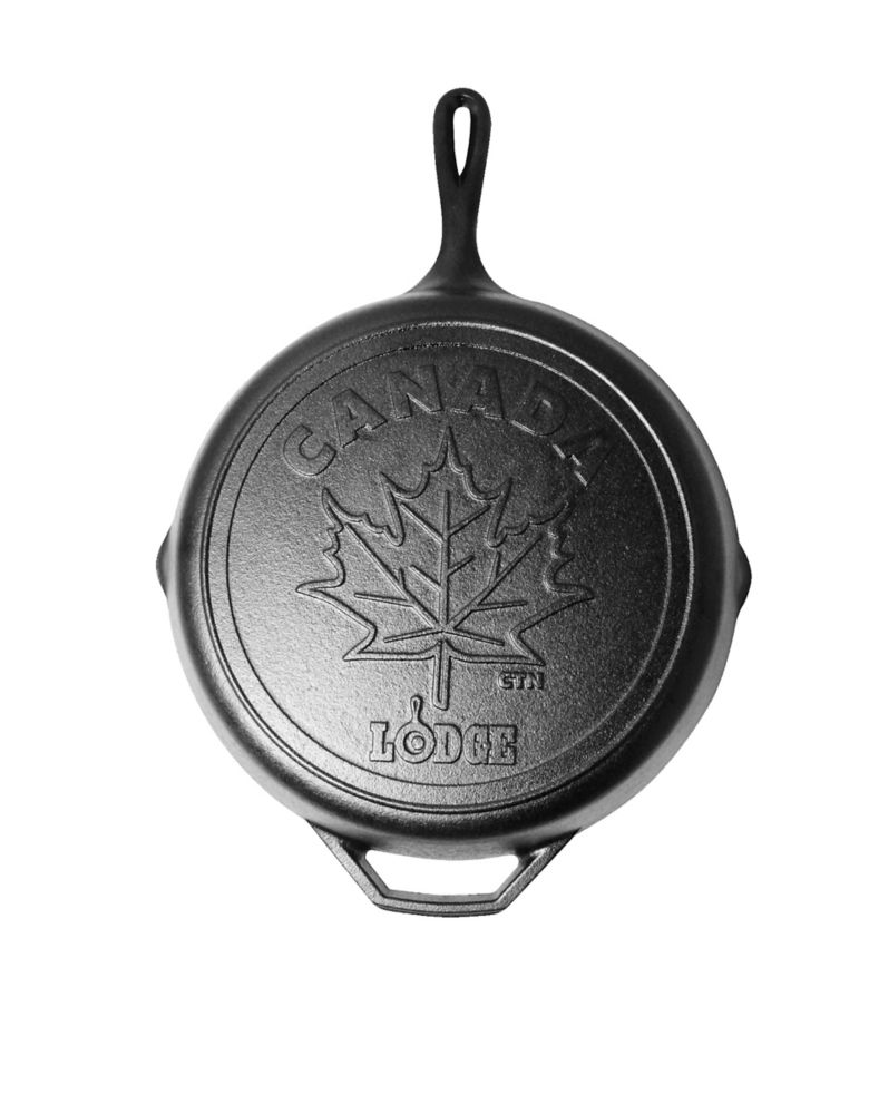 Lodge Lodge Canadiana Series 12 inch Cast Iron Skillet with Maple Leaf Scene - Limited Edition
