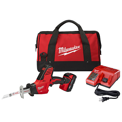 M18 18-Volt Lithium-Ion Cordless Hackzall Reciprocating Saw Kit with 1.5Ah Battery, Charger & Tool Bag