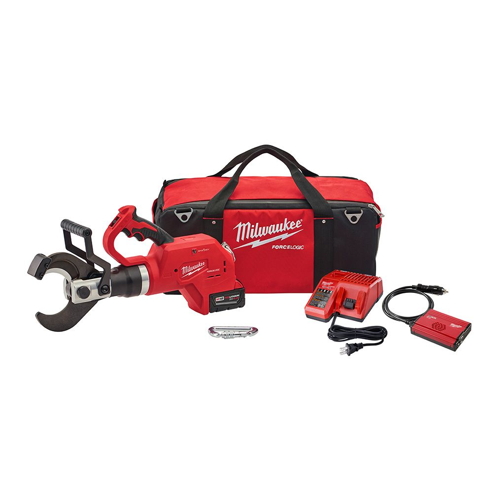 Milwaukee Tool M18 18-Volt Lithium-Ion Cordless FORCE LOGIC 3-Inch Underground Cable Cutter W/ (1) 5.0Ah Battery