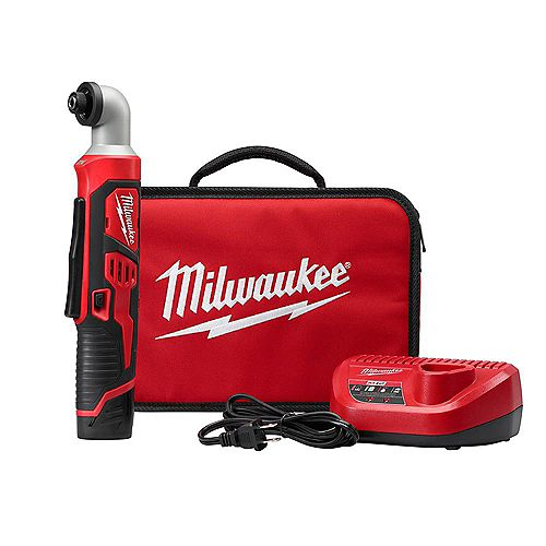 Milwaukee Tool M12 12-Volt Lithium-Ion Cordless 1/4-inch Right Angle Hex Impact Driver Kit W/ 1.5Ah Battery
