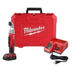 Milwaukee Tool M18 18-Volt Lithium-Ion Cordless 3/8 in. 2-Speed Right Angle Impact Wrench Kit W/ 1.5Ah Battery