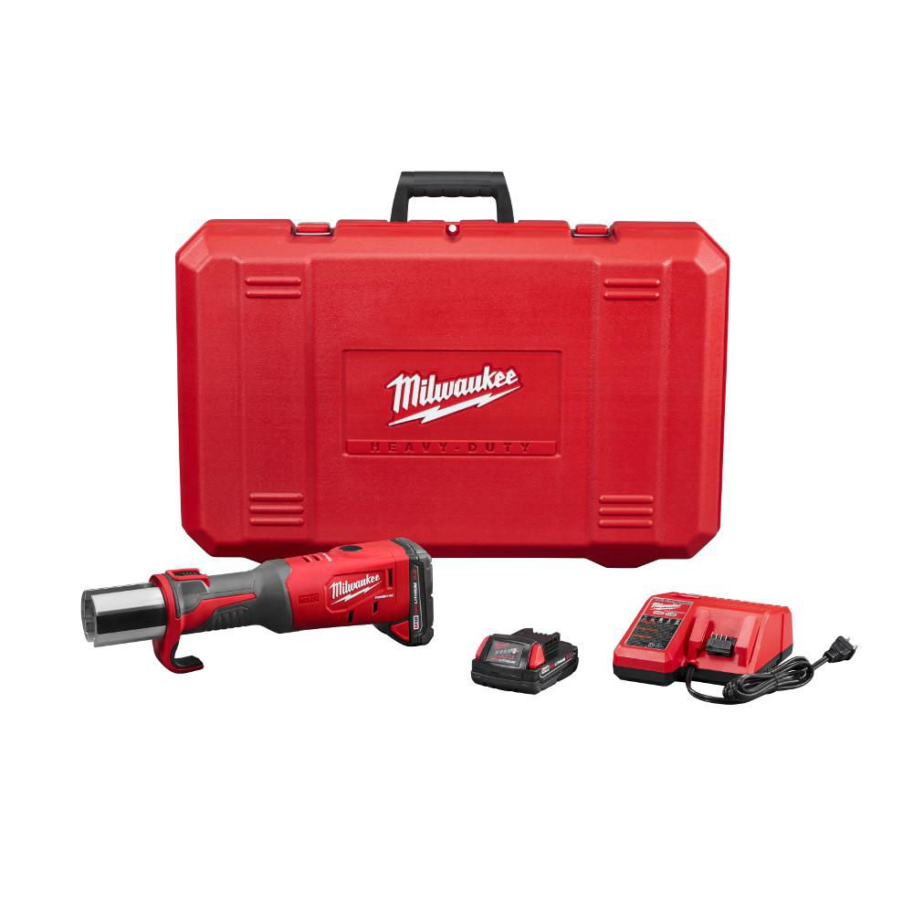 Milwaukee Tool M18 18-Volt Lithium-Ion Brushless Cordless FORCE LOGIC Press W/(2) 2.0Ah Batteries and Hard Case