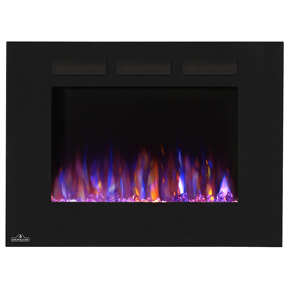 Napoleon Allure 32 Inch Linear Wall Mount Electric Fireplace The