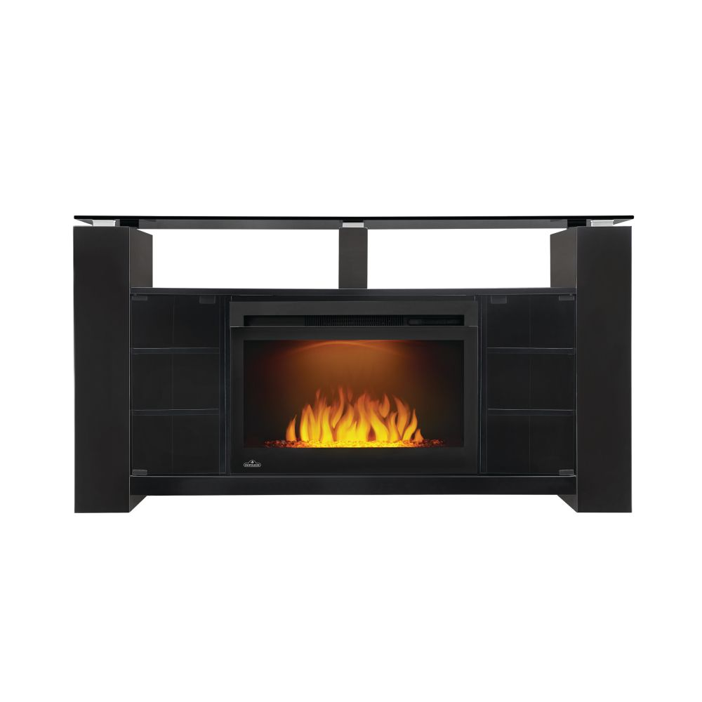 Napoleon Foley Electric Fireplace TV Stand with Storage and 27-inch firebox