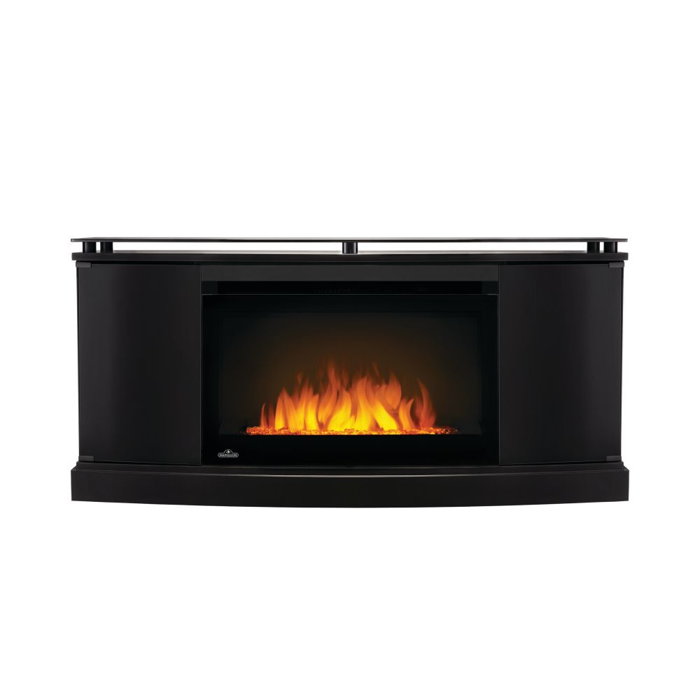 Napoleon Anya Electric Fireplace TV Stand with Storage and 27-inch Firebox