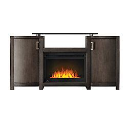 Napoleon Whitney Electric Fireplace TV Stand with Storage, 24-inch Firebox, Grey