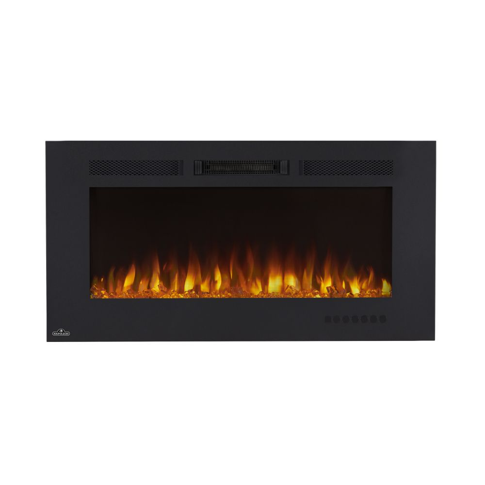 Napoleon Allure Phantom 42-inch Wall Mount Electric Fireplace with Non-Reflective Mesh Screen