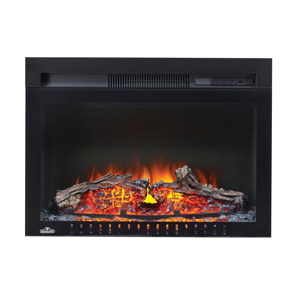 Cinema 24-inch Built-In Electric Fireplace Insert with Logs