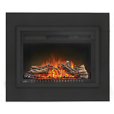 Magnificent Cinema 27 Inch Built In Electric Fireplace Insert With Logs Home Interior And Landscaping Palasignezvosmurscom