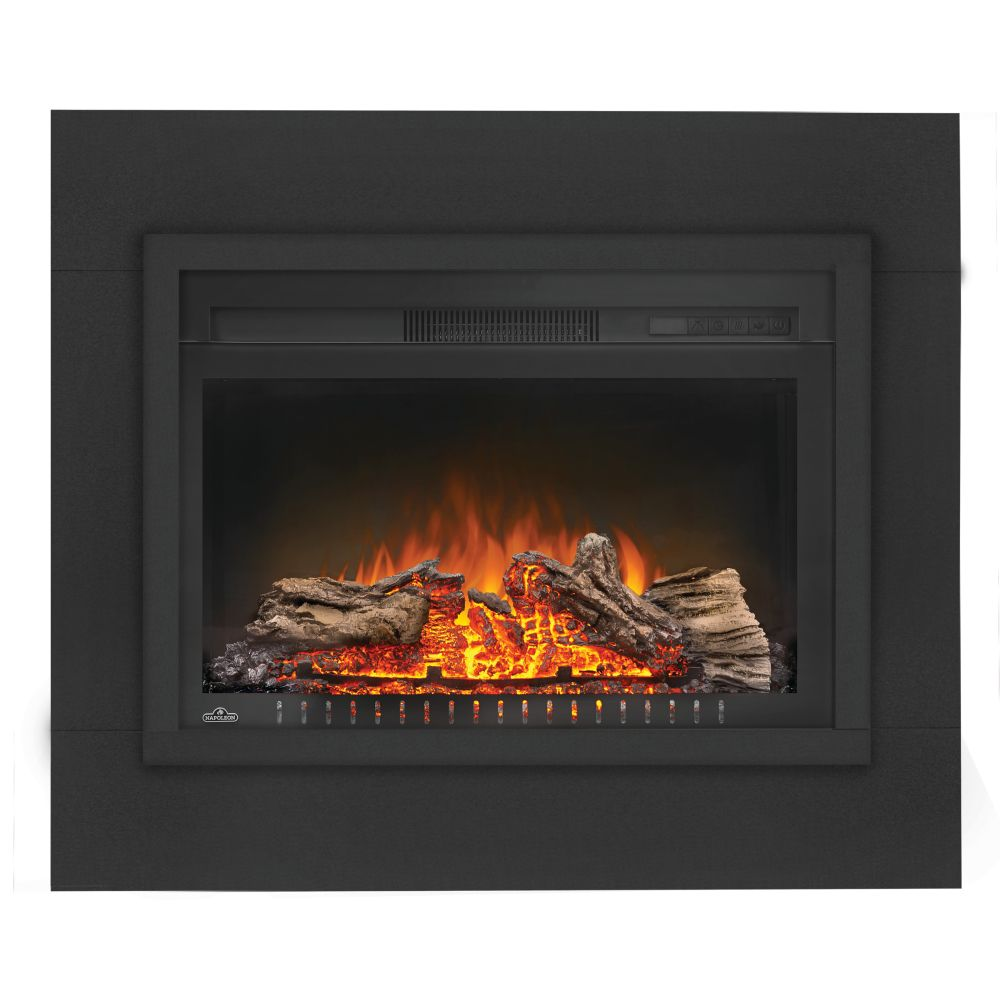 Cinema 27-inch Built-In Electric Fireplace Insert with Logs