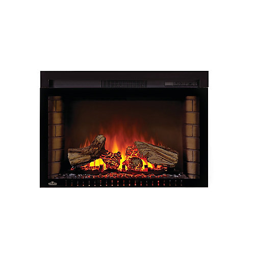 Cinema 29-inch Built-In Electric Fireplace Insert with Logs