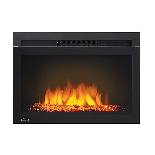 Cinema 24-inch Built-In Electric Fireplace Insert with Glass Media