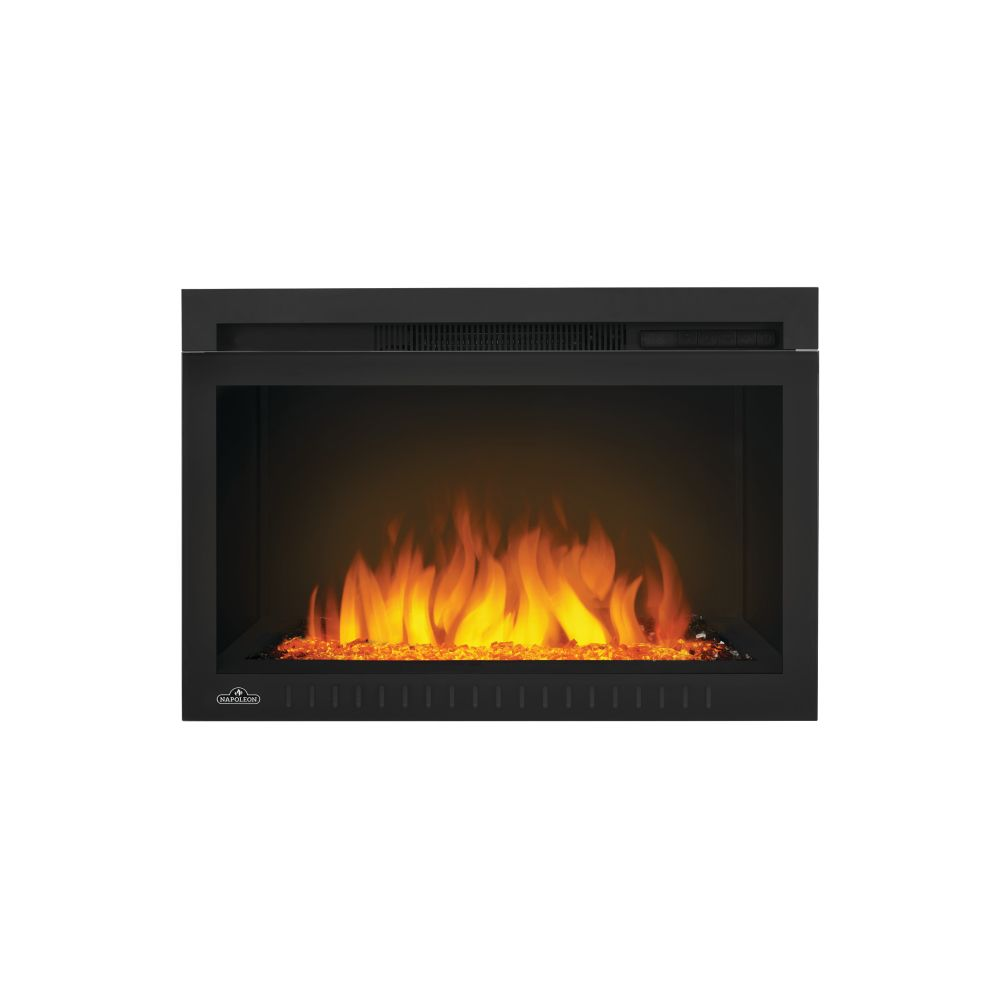 Napoleon Cinema 27-inch Built-In Electric Fireplace Insert with Glass Media