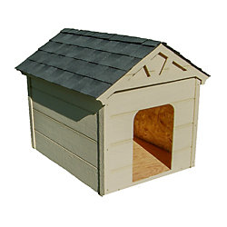 CANADIAN SHELTER CORP Dog House with Hinged Roof - Large - Non Insulated