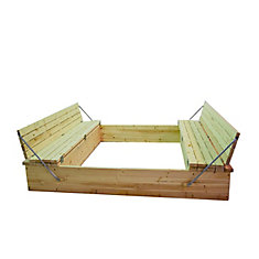 Sand Box 6 ft. X 8 ft.  with Folding Seats and Toy Box