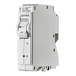 Leviton 15A 120V Unipolaire disjoncteur à DPÉFT enfichable