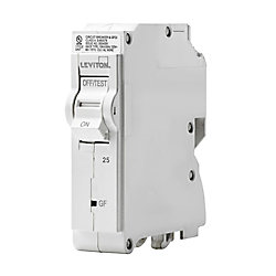 Leviton 1-Pole 25A 120V GFPE Plug-on Circuit Breaker