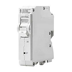 Leviton 1-Pole 25A 120V GFCI Plug-on Circuit Breaker