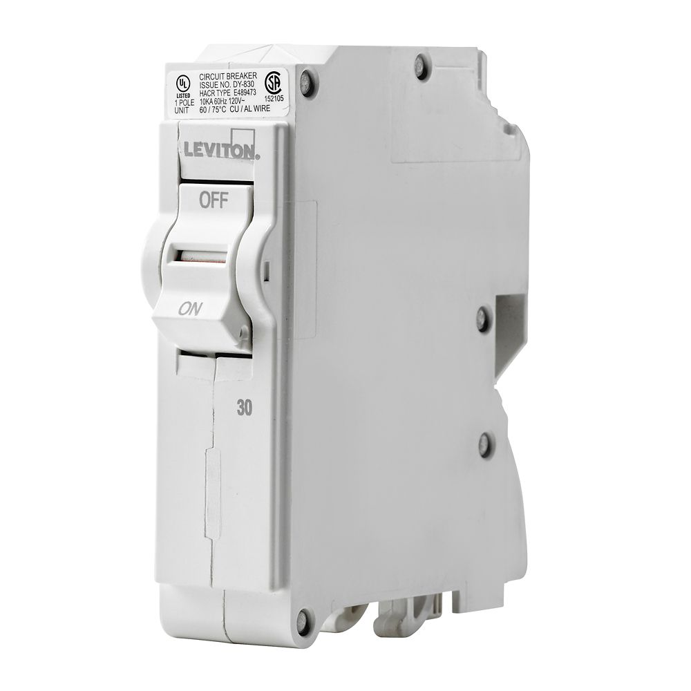 Leviton 1-Pole 30A 120V Plug-on Circuit Breaker
