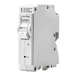 Leviton 30A 120V Unipolaire disjoncteur à DPÉFT enfichable