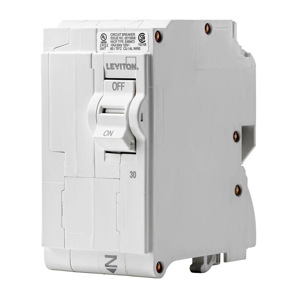 2-Pole 30A 120/240V Plug-on Circuit Breaker