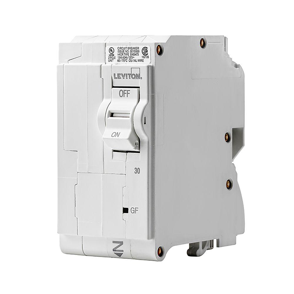 2-Pole 30A 120/240V GFCI Plug-on Circuit Breaker