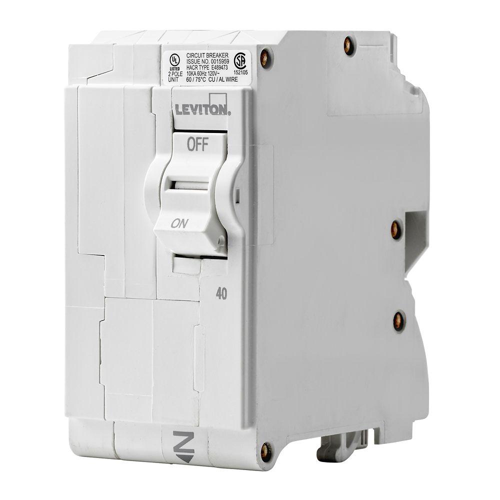 2-Pole 40A 120/240V Plug-on Circuit Breaker