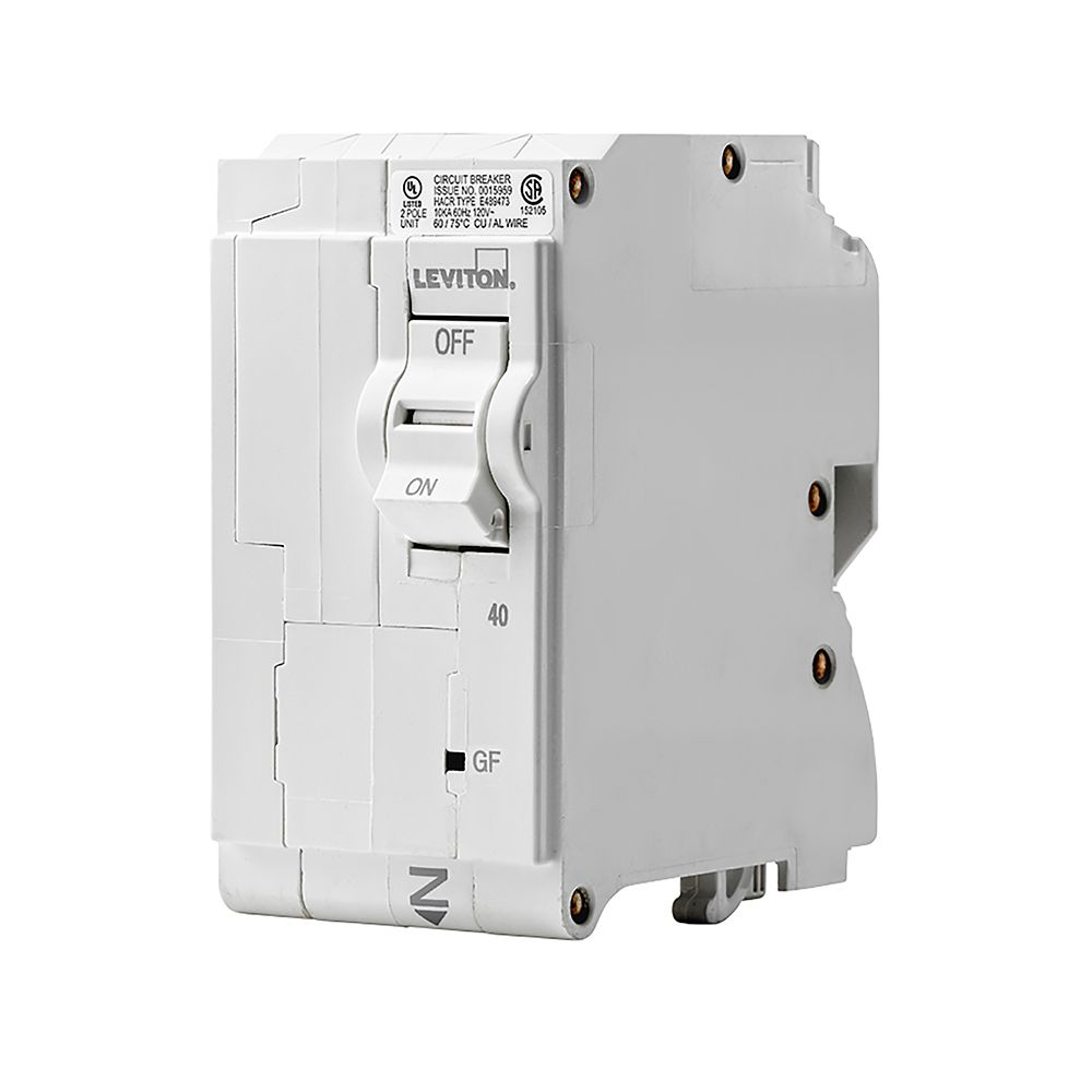 2-Pole 40A 120/240V GFCI Plug-on Circuit Breaker