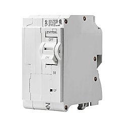 Leviton 50A 120/240V Bipolaire disjoncteur à DPÉFT enfichable