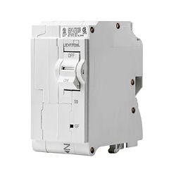 Leviton 2-Pole 50A 120/240V GFCI Plug-on Circuit Breaker