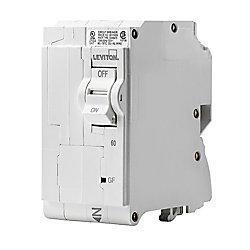 Leviton 60A 120/240V Bipolaire disjoncteur à DPÉFT enfichable