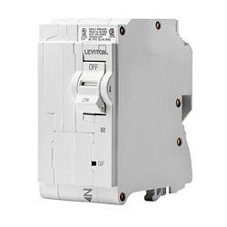 Leviton 2-Pole 60A 120/240V GFPE Plug-on Circuit Breaker