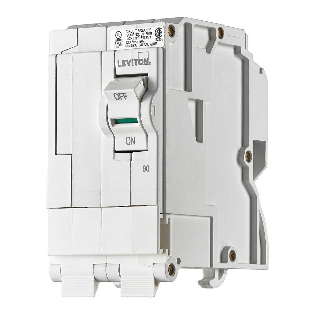 Leviton 2-Pole 90A 120/240V Plug-on Circuit Breaker