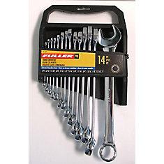 Jeu de clés mixtes SAE de la série  Pro    tailles de 1/4 à 1 po (14 pièces)